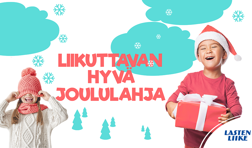 Liikuttavan hyvä joululahja artikelikuva kahdesta iloisesta lapsesta