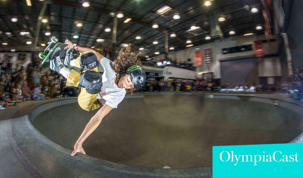 Lizzie Armanto OlympiaCastin vieraana. Kuva: Dan Sparagna