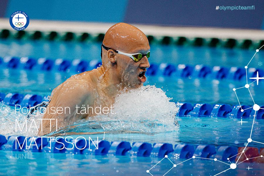 Matti Mattsson Tokion olympia-altaassa.