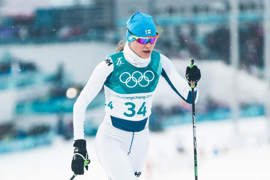 Johanna Matintalo PyeongChangin olympiakisoissa.