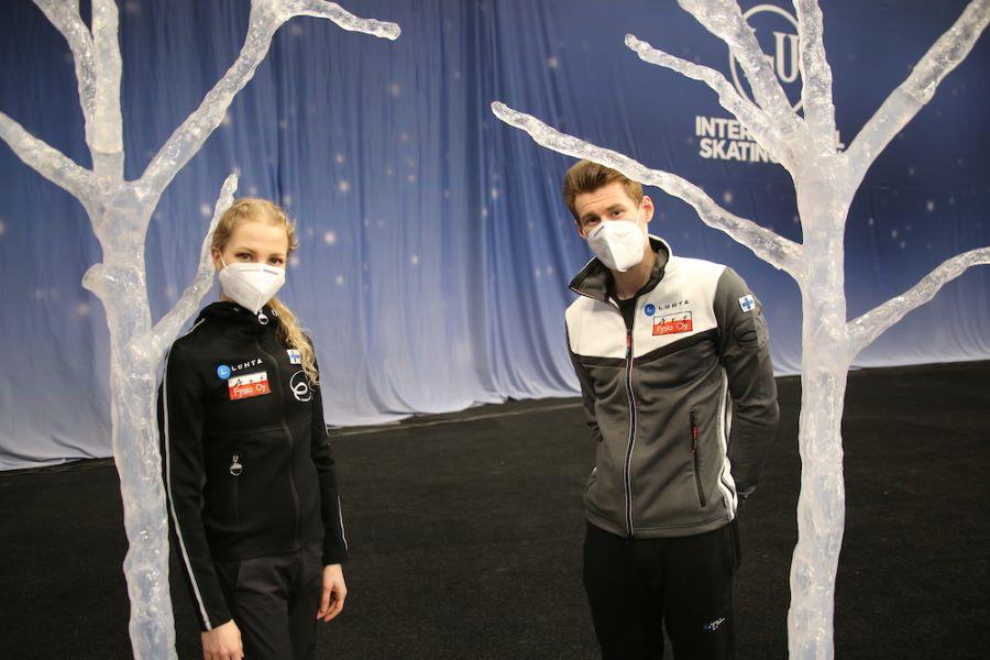 Juulia Turkkila ja Matthias Versluis. Kuva: Suomen Taitoluisteluliitto